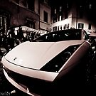 Lamborghini in Rome streets by adrianfowlers