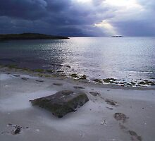 Sandy feet & rolling evening cloud, Morar by artyfifi