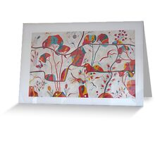 Secret garden red Greeting Card