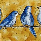 Birds on a wire by CRLawrence