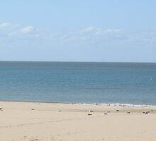 An English Beach by missmoneypenny