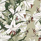 lilliesTile110509-03a by AgaSilva