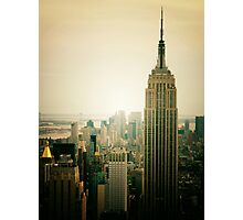 Empire State Building New York Cityscape Photographic Print