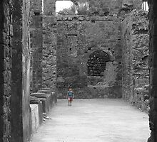 Boy lost in a fort by amalmohan