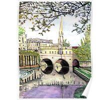 Pultney Bridge Bath England Poster