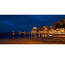Il porto di Castellammare del Golfo di sera Photographic Print