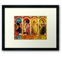 Joy Faith Hope & Love Framed Print