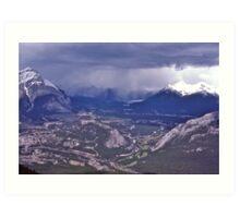 Snowstorm, Banff, Alberta, Canada. Art Print