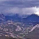 Snowstorm, Banff, Alberta, Canada. by johnrf