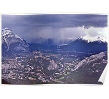 Snowstorm, Banff, Alberta, Canada. Poster