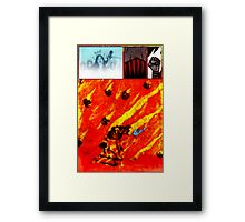 PART TWO – The White Queen Burns Framed Print