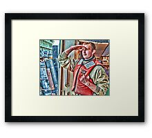 the deckhand Framed Print