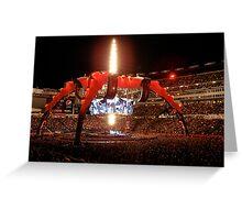 U2 Foxboro Greeting Card