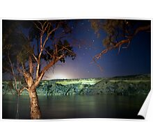 Moonrise over the Murray Poster