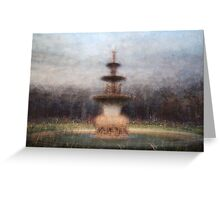 Exhibition Fountain (Hochgurtel Fountain), Carlton Gardens Greeting Card