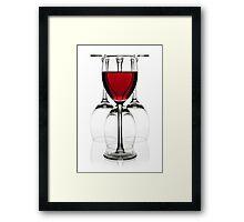 Glasses of red wine Framed Print