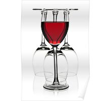 Glasses of red wine Poster