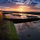 Sunset at low tide by Geoff Carpenter