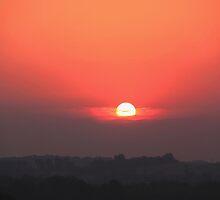 Sunrise on the plains by Karen  Rubeiz
