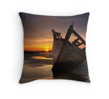 Wreck at Sunset • Bunbeg, Co Donegal Throw Pillow