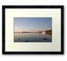 At anchor on a summer night. Framed Print