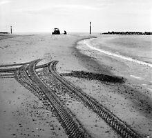 Tracks in the Sand II - Sea Palling by Richard Flint