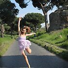 Giuly Dancing the Appian Way by Jeff Holcombe