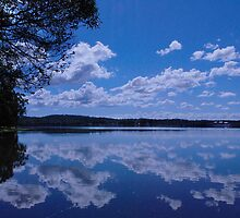 Clouds on the lake by Mark Malinowski
