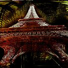 The Eiffel Tower enters Louvre  by Aleksandar Topalovic