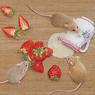 Strawberries and Cream Delight by Karen  Hull