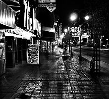 Reno Nevada at night by Jeffrey  Sinnock