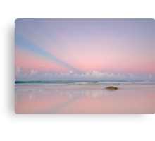 Twilight on the Coast - Miami Beach Qld Canvas Print