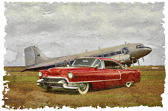 Red Cadillac by Steven  Agius
