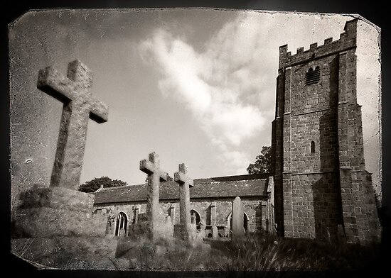 Chagford Church by Catherine Hadler