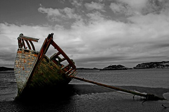 Stranded boat, Dungloe, Donegal by Ciaran Sidwell