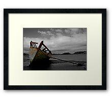 Stranded boat, Dungloe, Donegal Framed Print