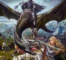 Eowyn and the Nazgul by dashinvaine