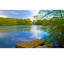 Brady Lake Dock Photographic Print
