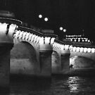 Pont Neuf at Night, Paris by Susan Chandler