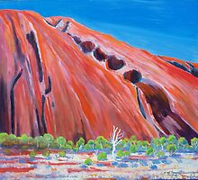 A little bit of Australia ,Uluru /Ayers Rock  by Virginia McGowan