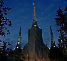 Portland Oregon LDS Temple 2 by Nick Boren