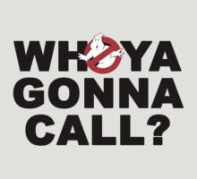 Who ya gonna call? Ghostbusters by Teevolution