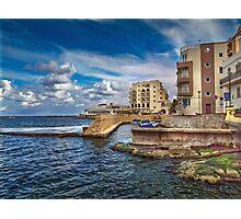 Il-Menqa, St Paul's Bay Malta Photographic Print