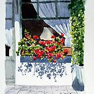 Caf Window by Ann Mortimer