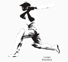 Iconic Stars Don Bradman by Andy Crawford