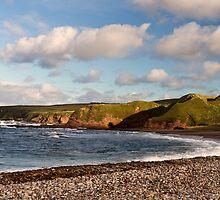 New Aberdour Beach Cliffs and Caves by Bill Buchan