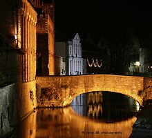 bruges at night by milena boeva