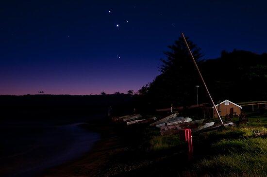 Mercury, Venus and Mars at Long Reef by Jason Ruth
