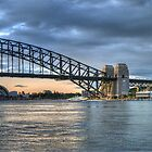The Coathanger - (35 Exposure HDR Panorama) , Sydney Harbour, Sydney Australia - The HDR Experience by Philip Johnson