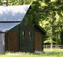 Grey Barn II by Ginger  Barritt